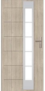Двери ЕВРОПА PVC 101 Нептун со стеклом