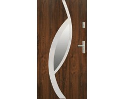 Двери ЕВРОПА PVC 70 Мирам со стеклом