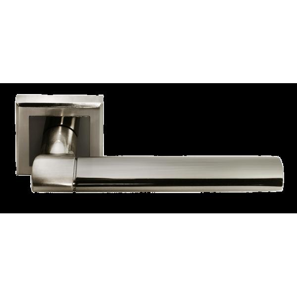 Ручка дверная MORELLI 21 белый никель/черный никель