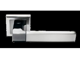 Ручка дверная MORELLI 28 белый никель/черный никель