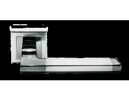 Ручка дверная MORELLI 35 белый никель/черный никель