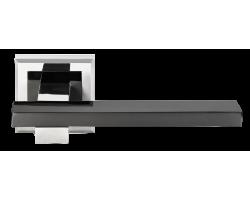 Ручка дверная MORELLI 38 белый никель/черный никель