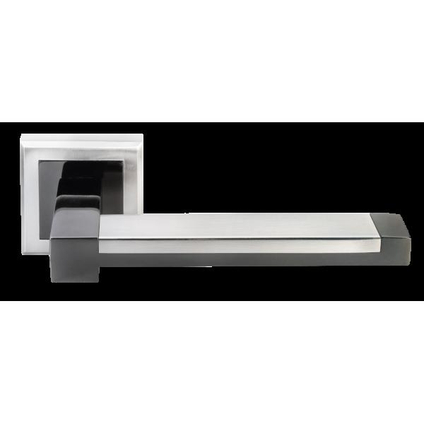 Ручка дверная MORELLI 39 белый никель/черный никель