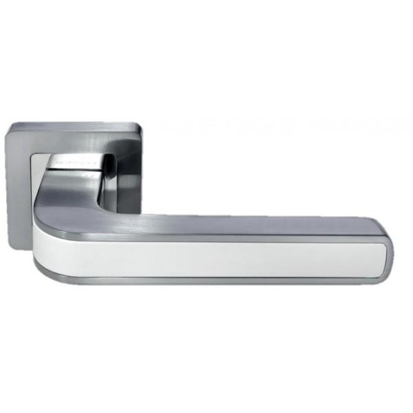 Ручка дверная MORELLI 46 матовый хром/белый