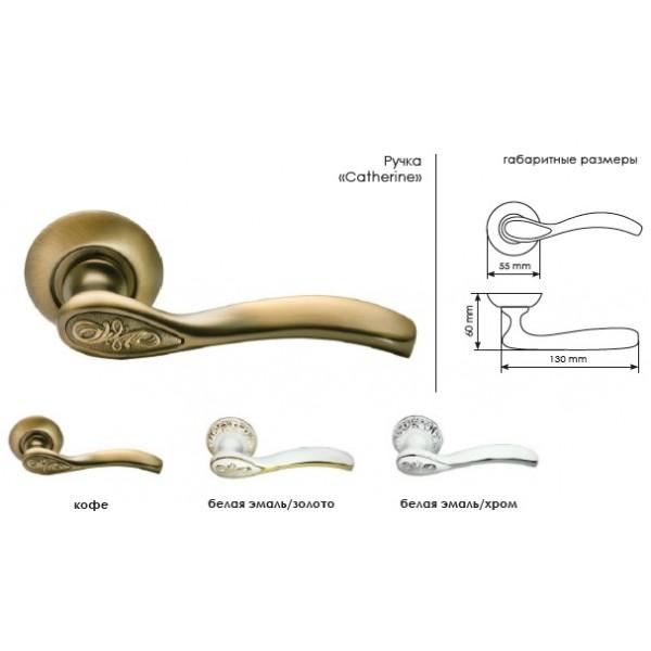 Ручка дверная MORELLI 36 Gratia CLASSIC белая эмаль/хром